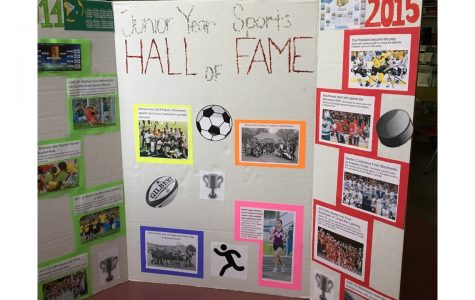 Junior year sports hall of fame