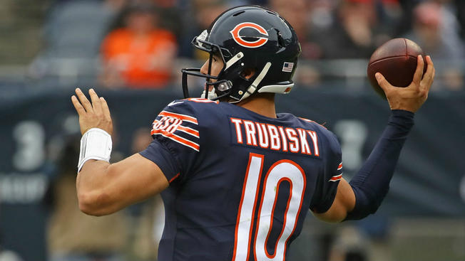 Mitchell+Trubisky+%2310+the+current+Quarterback+for+the+Bears
