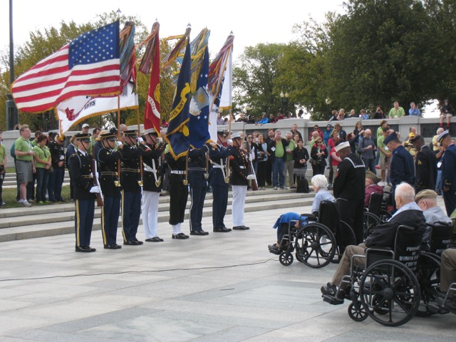 The+Honor+Flight+Network+flies+veterans+to+Washington+to+be+honored+in+a+ceremony+each+year.++