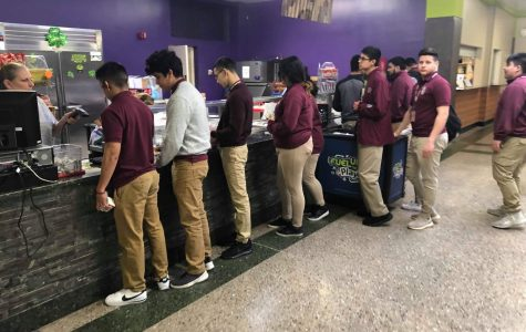 Photo essay:  East lunch means lines, hang time, homework