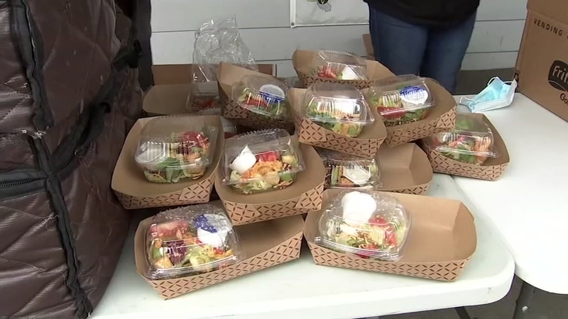 Approximately 300 grab-and-go lunches are provided to the community each day.