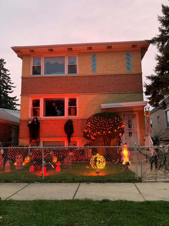 This cicero home is ready for trick-or-treaters this upcoming weekend