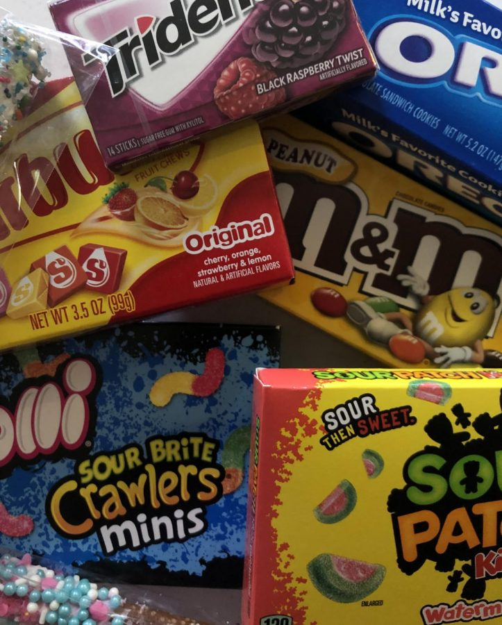 A mixture of all types of candies in one picture. a few are sour and a few others are sweet! I featured the Oreo's because they're great.