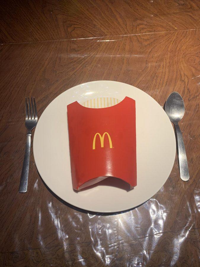 A McDonald's Fries box set as a meal- Jesse Rodriguez
