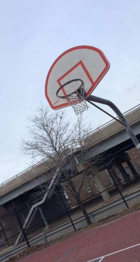 Reporter Lorena Cabrales took this picture right before playing basketball.