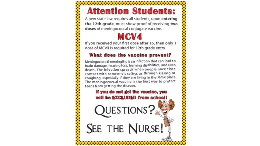 Posters designed by Ms. Doogan were posted all over school alerting students.