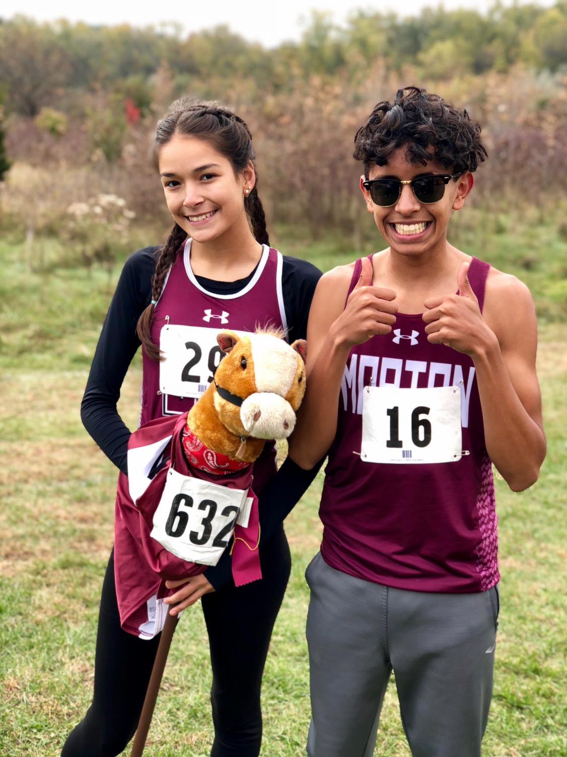 Guillermo and Paola after qualifying for the state meet.