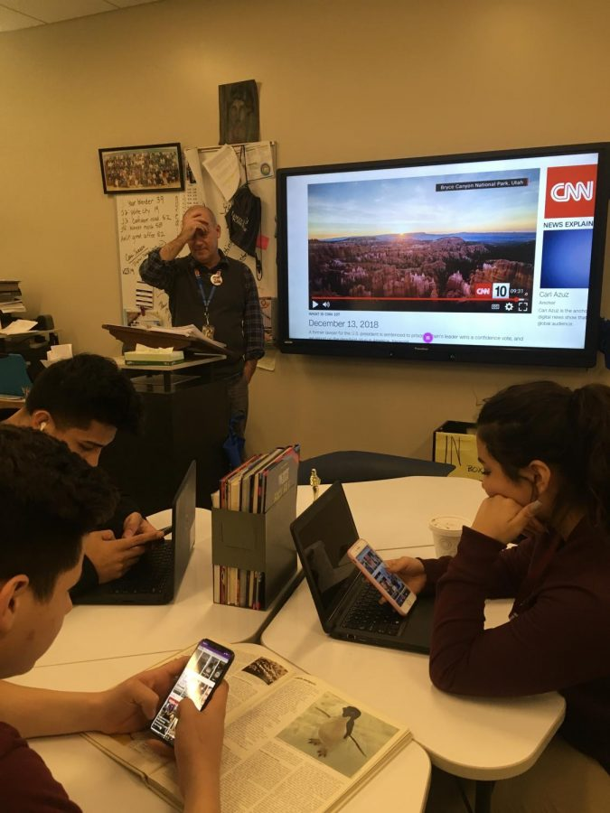 Phone use:  East students swipe their lives away