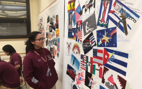 Sophomores turn books into colorful mural