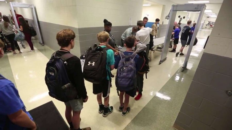 Backpack searches to begin next year