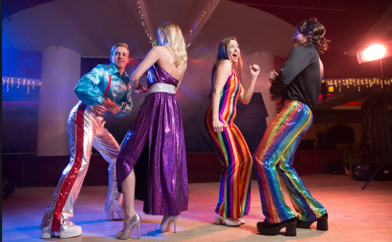 70s disco outfits. Are you ready?