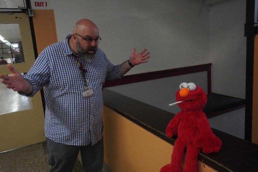 Mr. Robinson catches Elmo vaping in the halls.