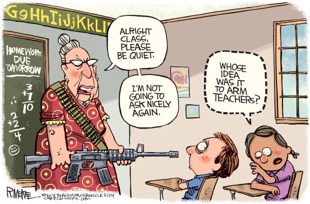 Give teachers guns, students say