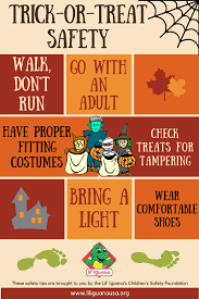 Some basic rules for parents who will take their kids trick or treating.