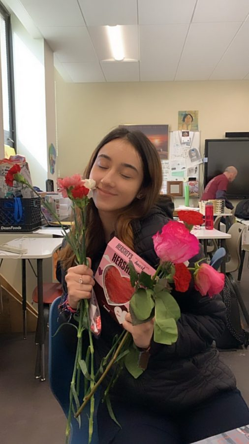 Staged photo: Senior Dayanna Gonzalez finessed Valentine's Day gifts.
