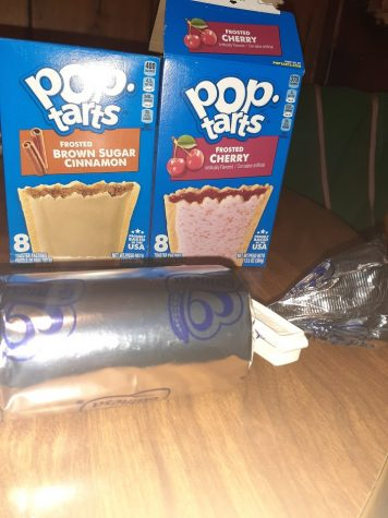 Brown Cinnamon Sugar and Frosted Cherry Pop Tarts and Maria Cookies