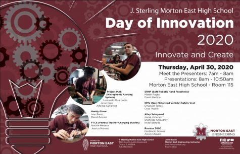 Day of Innovation poster used for the 2020 student presentations.